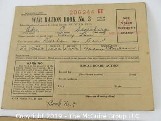 WYSIWYG  Stamp book and WWI Ration Cards