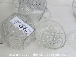 Collectible: Pressed and Cut Glass: 6 pieces
