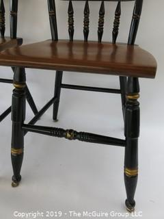 Furniture: Chairs: 3 stenciled side chairs