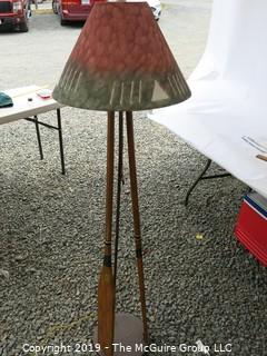 Furniture: Do you canoe? Interesting standing floor lamp with canoe paddles.
