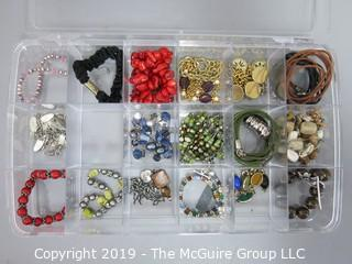 Jewelry: Asst. costume jewelry mostly bracelets and necklaces