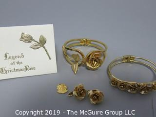 Jewelry: Giovanni: Legend of the Christmas Rose: 2 bracelets and 1 pair of earrings.