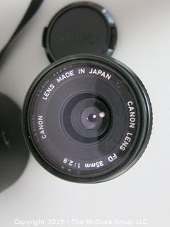 Camera Canon FD 35mm 1:2.5 w/ case & skylight filter