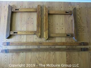 "Furniture: Period Piece: Incredible antique woodcrafter's bench w/vises; 102""L x 28""W"