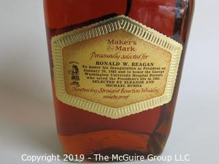 Historical: Collectable: Ronald Reagan 1985 Inauguration commemorative Maker's Mark Bottle SEALED