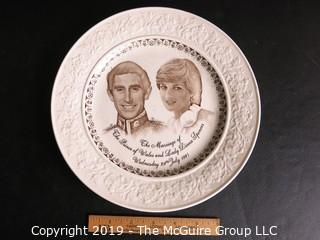 Collectable: Historical: Princess Di and Prince Charles Collectible Staffordshire Plate