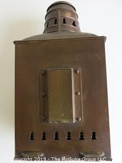 Collectable:(2) Antique Kerosene Wall Lanterns; made by Perkins Marine Lamp and Hardware Corp., Brooklyn, NY (eBay$)