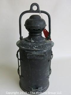 Historical: Collectable: Brass Ship's Kerosene Light