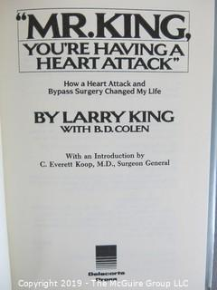 """Collectable: Book Title: """"Mr. King, You're Having a Heart Attack"""" SIGNED"""