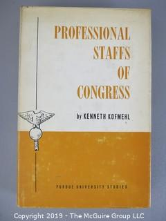 Book Title: Professional Staffs of Congress; 1963