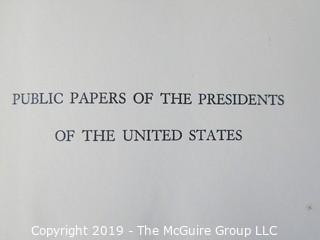 "Book Title: ""Truman's Presidential Public Papers"";  published by the U.S. Government Printing Office"