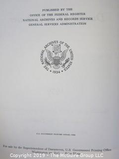 "Book Title: ""Eisenhower's Presidential Public Papers"";  published by the U.S. Government Printing Office"