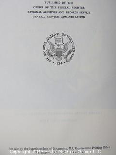 """Historical: Collectable: Book Title: """"Johnson's Presidential Public Papers"""";  published by the U.S. Government Printing Office"""