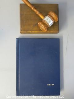 "Historical: Collectable: Book Title: ""Sid at 80""; the life story of Sid Yudain; founder of ""Roll Call"", the daily newspaper of Capitol Hill also presentation gavel"