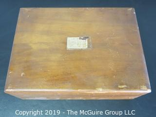 Historical: Collectable: Desktop Deco Cigar Humidor of U.S. Supreme Court Justice Tom C. Clark; 1961