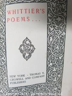 "Book Title:""The Early Poems of John Greenleaf Whittier""  circa 1900"