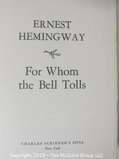 """Book Title:""""For Whom The Bell Tolls""""; by Earnest Heminway; published by Charles Scribner's Sons, New York; 1940"""