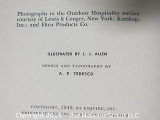 """Book Title:Esquire's 1953 """"Handbook for Hosts"""""""