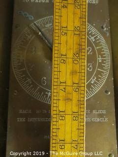 Collectibles: Historic:Industrial: Salter's Improved Circular Spring Loaded Brass Hanging Scale with matching basket; Made in England