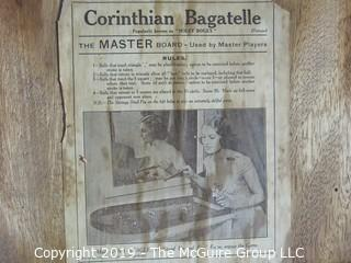 Collectibles: Games: Holey Boley Corinthian Bagatelle Board; made by Abbey