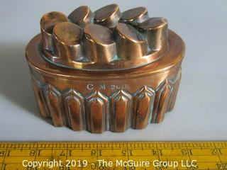 Collectibles: Household: Kitchen: Collection of (5) Antique Copper Molds