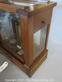 Collectibles: Scientific: Vintage Jewelers Scale; Voland & Sons, New Rochelle, NY with micro-weights