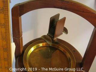 Collectibles: Household: Tobaccania: M-C Wooden Smoking Stand