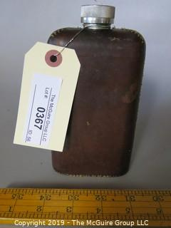 "Collectibles: Antique: Hand Stitched Leather Covered ""Stanley"" Flask; (TMG #367)"