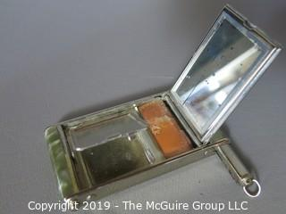 "Collectible: Antique: Personal Care: Vintage Lady's Compact Case; marked ""GIREY"" (WYSIWYG)"
