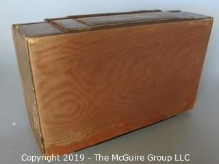 Collectibles: Personal Item:  Vintage Leather Covered Jewelry Box (TMG #372) w/ removable tray (not shown)