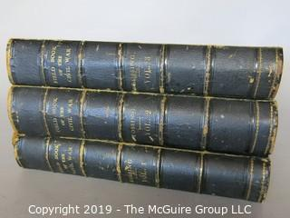"Books: Book Series: 3 Leather Bound Volumes; ""Pictorial Field Book of the Civil War in the United States of America""; by Benson J. Lossing; Thomas Belknap, publisher - eBay$$$"