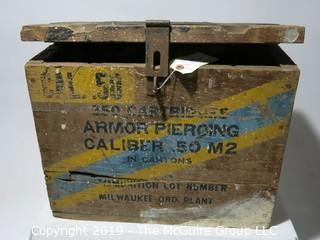 Advertising: Wood Crate: VTG: 50Cal Ammo Box