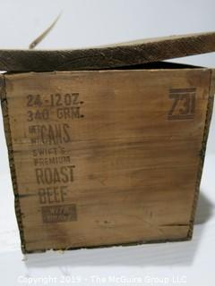 Advertising: Wood Crate: VTG: (refer to photos for condition): Swifts Premium Roast Beef