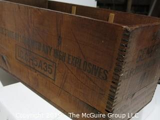 Advertising: Wood Crate: VTG: (refer to photos for condition): Blasting Caps