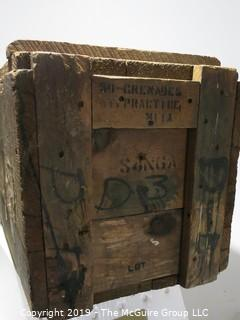 Advertising: Wood Crate: VTG: (refer to photos for condition): DUMMY PRACTICE GRENADES