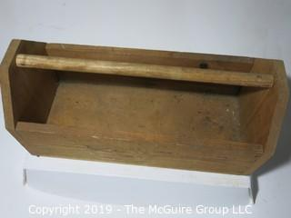 Wood Tool Tray: VTG: (refer to photos for condition): unpainted