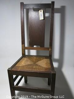 Furniture: Chair: Rush cane seat, Classic style, removable seat