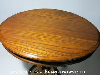 Furniture: Wood: Table: Oval: (Note: top not completely flat)