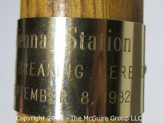 Historical: Commemorative Item: 1982 Ceremonial Shovel for Groundbreaking of The Vienna Metro Station