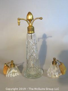 Crystal: Vanity Items: Atomizers x3 (rubber bulbs deteriorated)