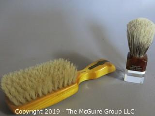 Personal Items: VTG: Shaving and Hair Bristle Brushes