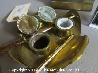 Desk Top Items: Brass: Commemorative Stamp