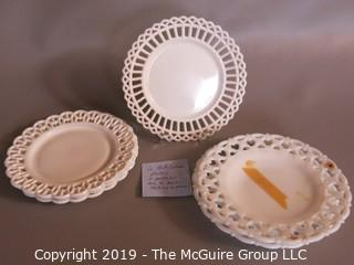 Milk-glass: Lattice Plates Mixed