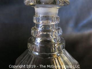 Crystal: Lead Cut: Palm Pattern Decanter w/stopper