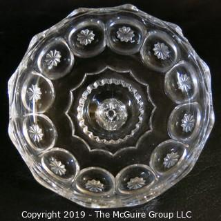 Pair of Crystal Covered Candy Dishes