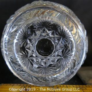 Two EAPG Glass Vases