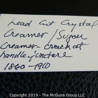 Crystal Sugar and Creamer