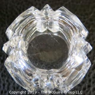 Crystal Mustard Bowl w/ Cover