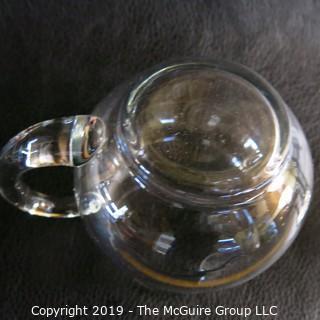 Two (2) blown glass pitchers
