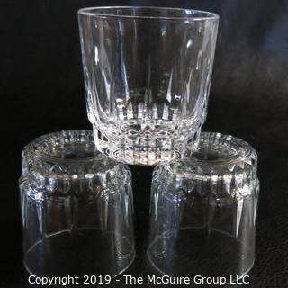 French Arcoroc Patterned Glassware